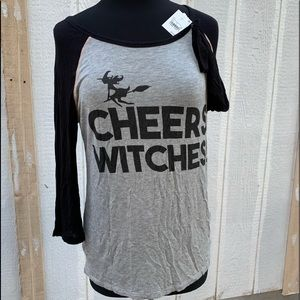 Zoe &Liv NWT Raglin Cheers Witches